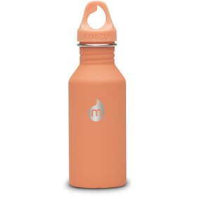 MIZU M4 Bottle with Peach Loop Cap 400ml Soft Touch Peach LE